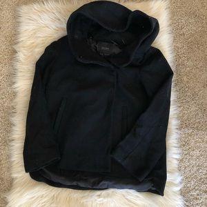 Zara essentials black wool coat